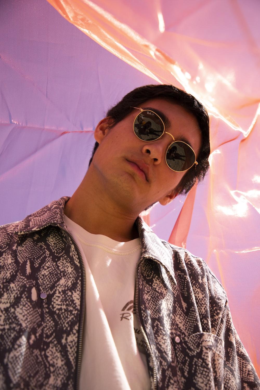 man wearing black frame sunglasses