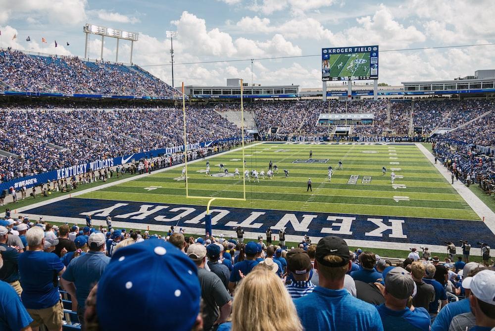 green and blue Kentucky stadium