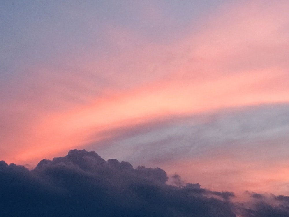 gray and pink clouds