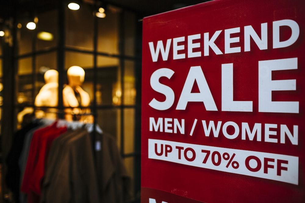 Weekend Sale signage