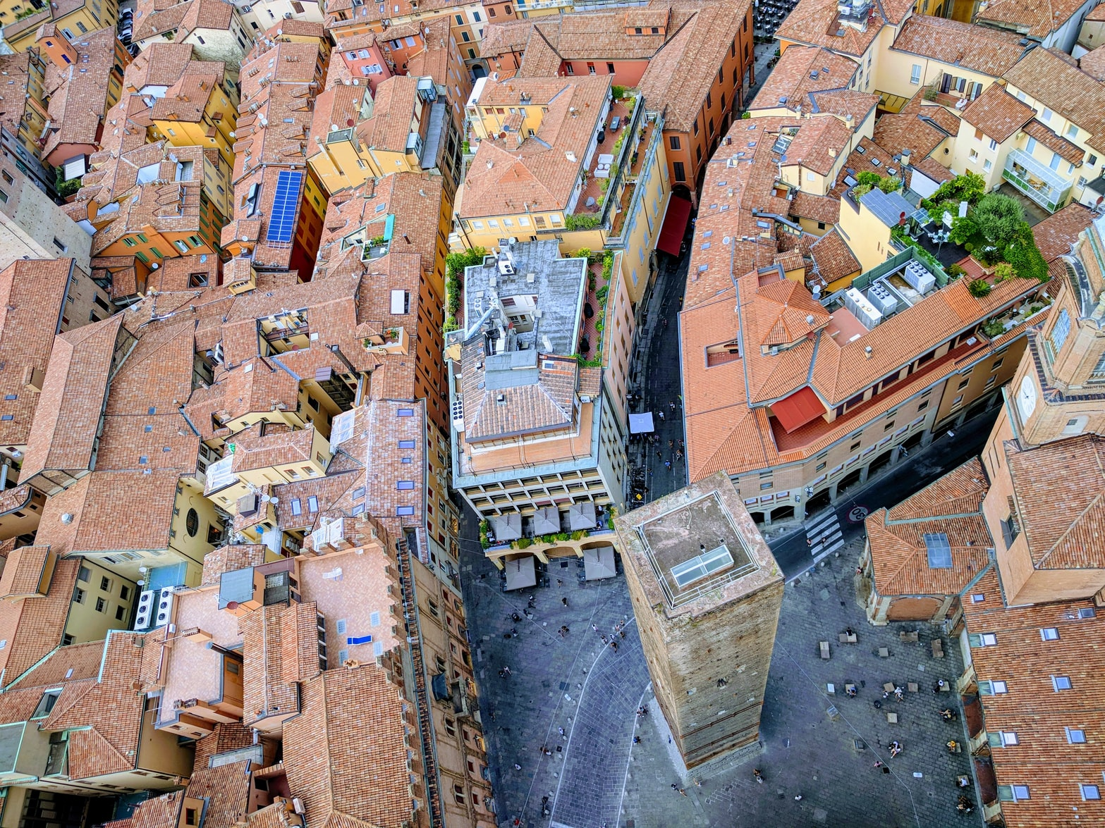 arial view of Bologna, Italy