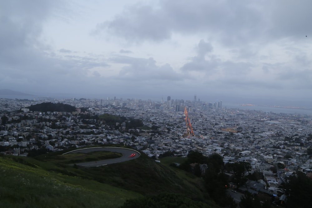 aerial photography of city under cloudy sky during daytime