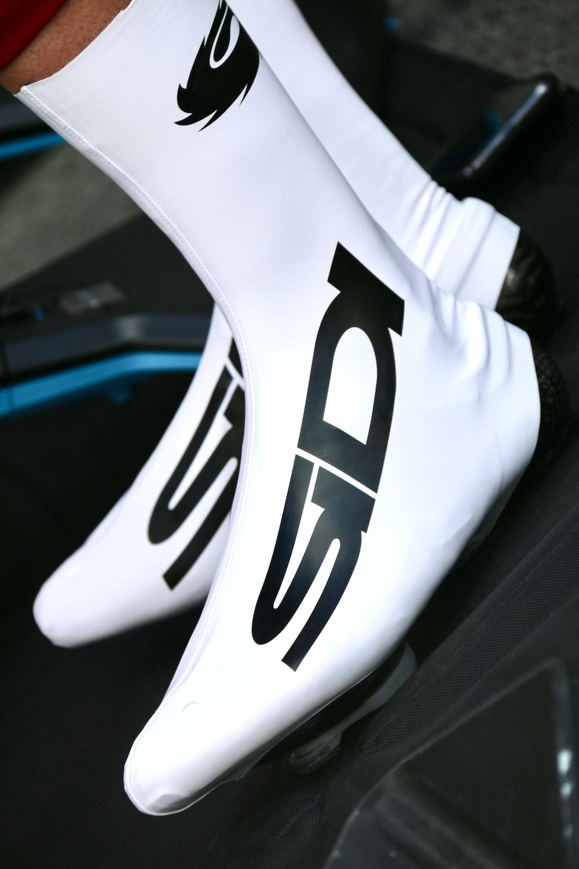 white Sidi shoes