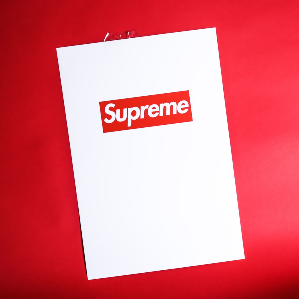 white Supreme bag
