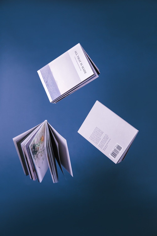 shallow focus photo of three books