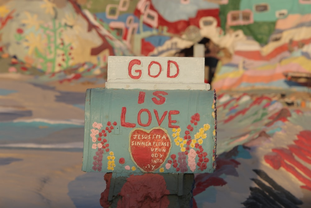 selective-focus of God is Love paper