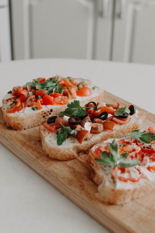 baked bread sandwich