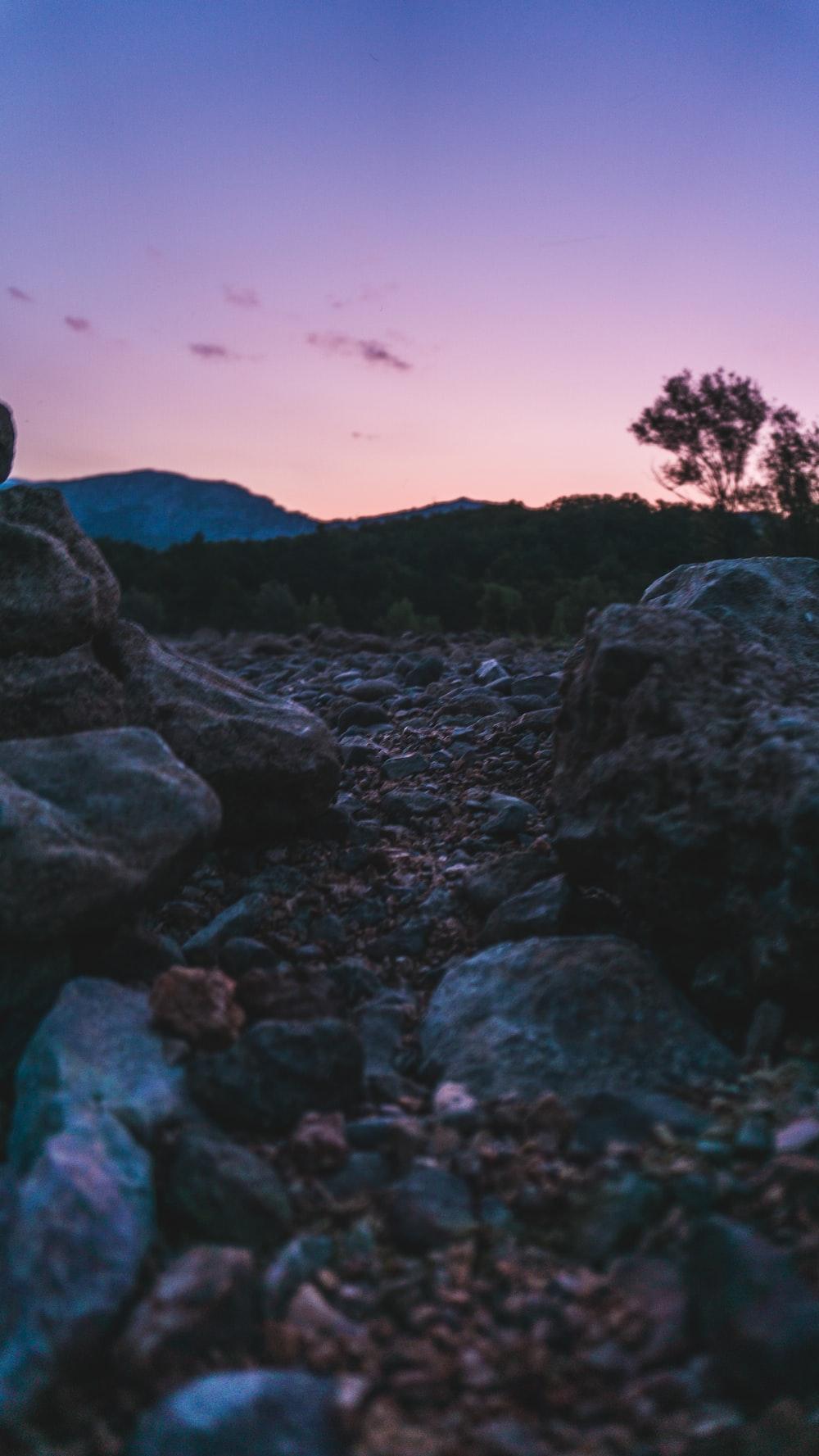 rocks on hill