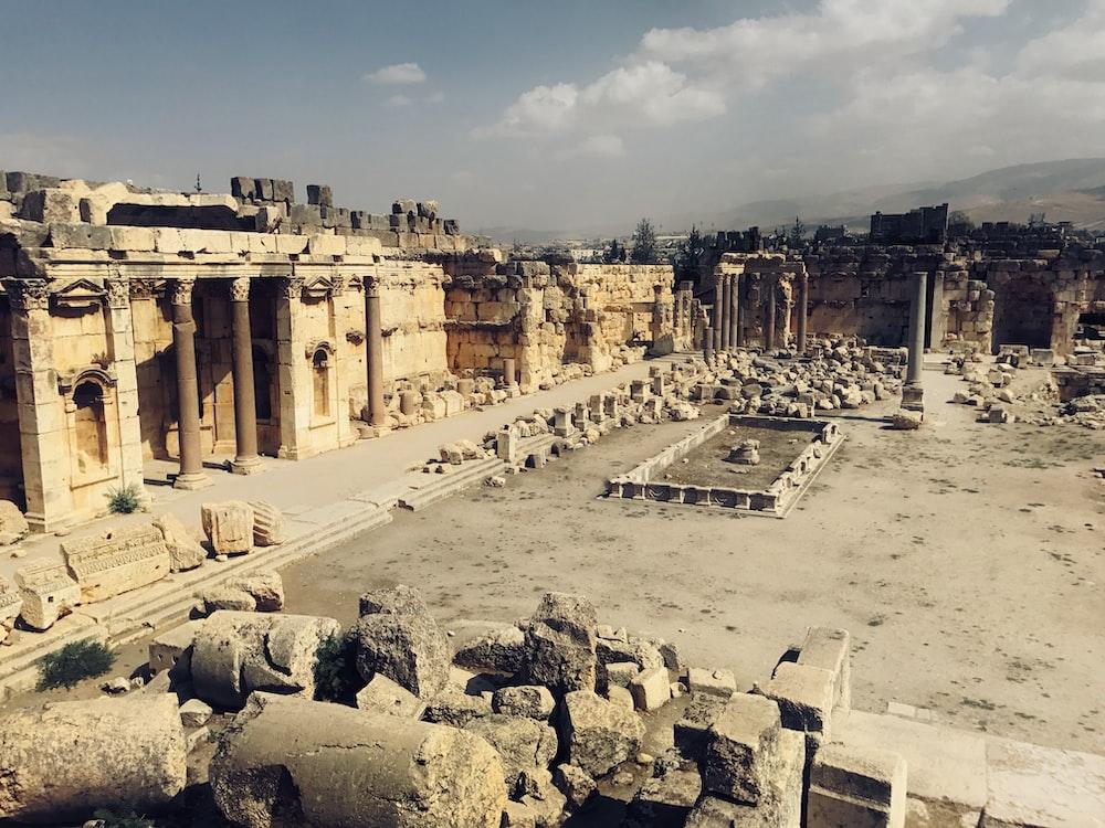 Greek building ruins during daytime