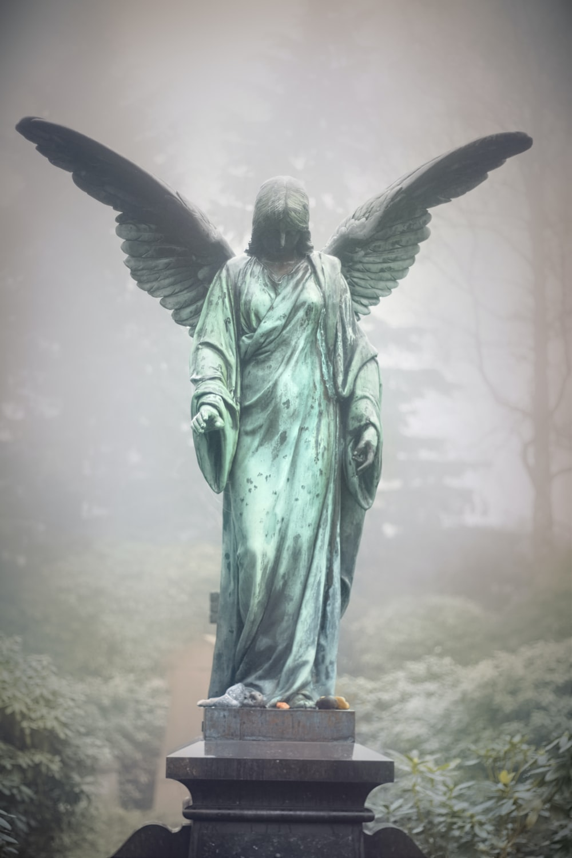 green female angel statue