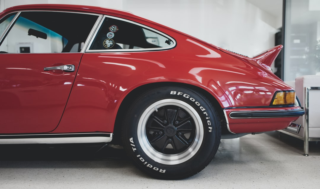 Classic Red Porsche 911 - shot at Thermal, California