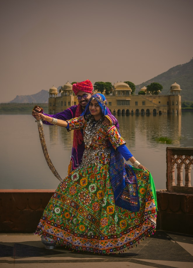 Wedding photoshoot of a couple in Jaipur