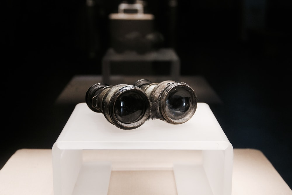 black and brown binoculars