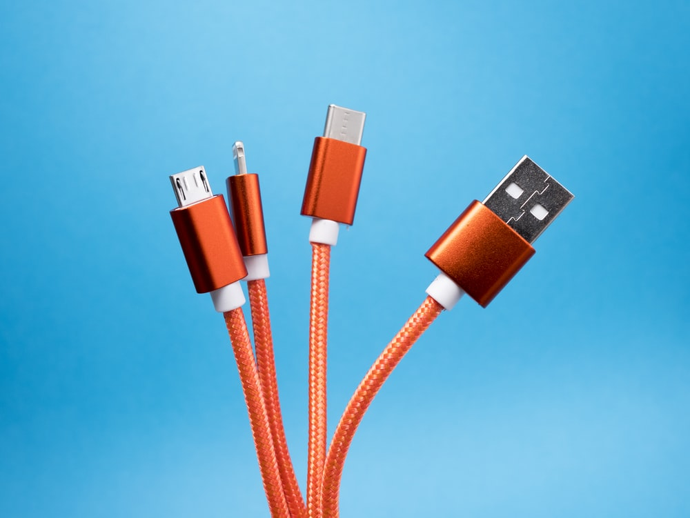 orange USB cables