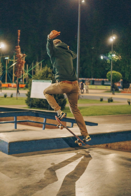 skateboarder in park