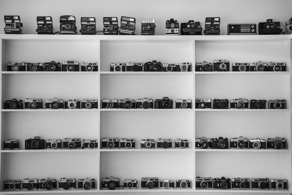 black assorted-type Cameras set