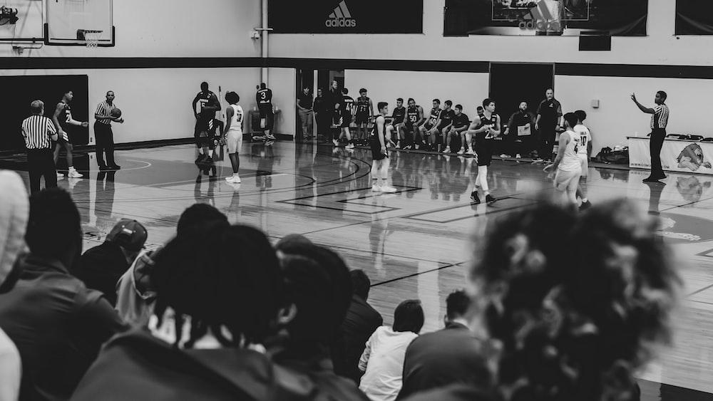 basketball game inside court