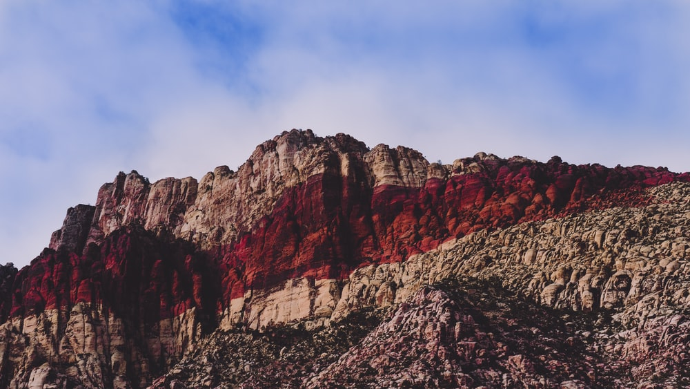 brown and red rock mountain during daytime