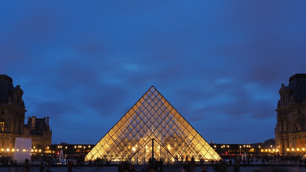 front of the Louvre