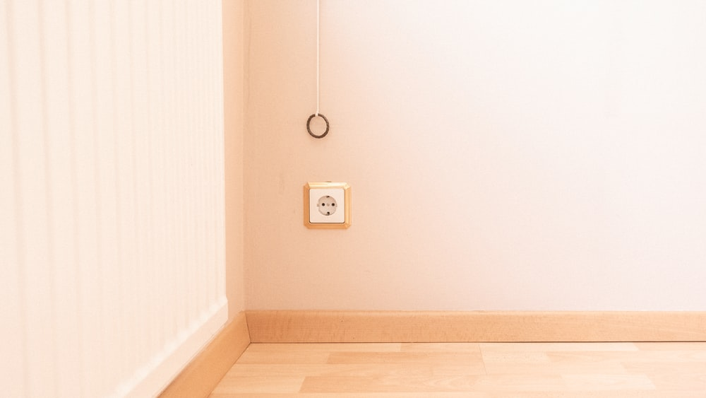 square white wall socket