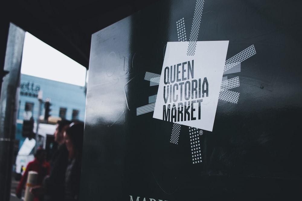 Queen Victoria Market sign