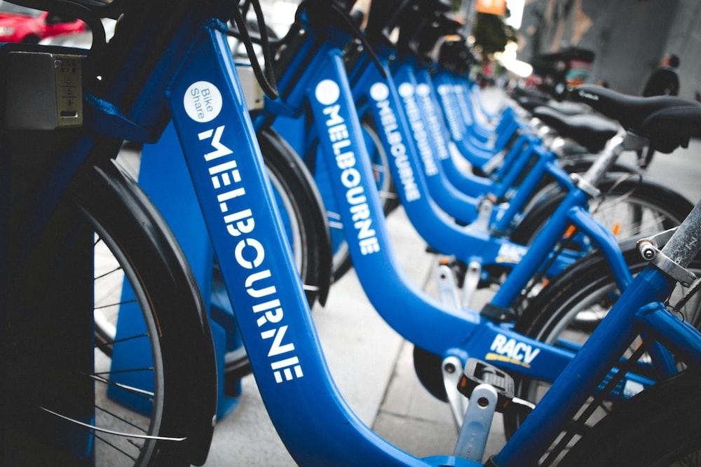 blue and black Melbourne bikes