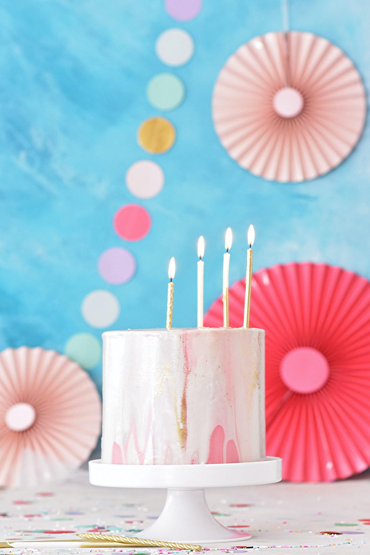 round pink coated cake