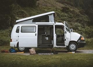 white van during daytime