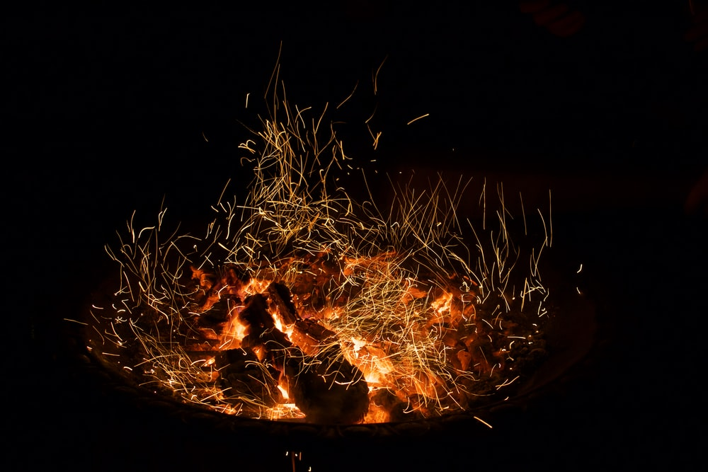 firepit during nighttime