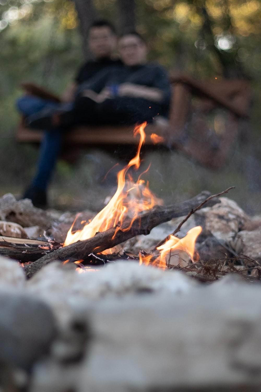 wood burning during daytime