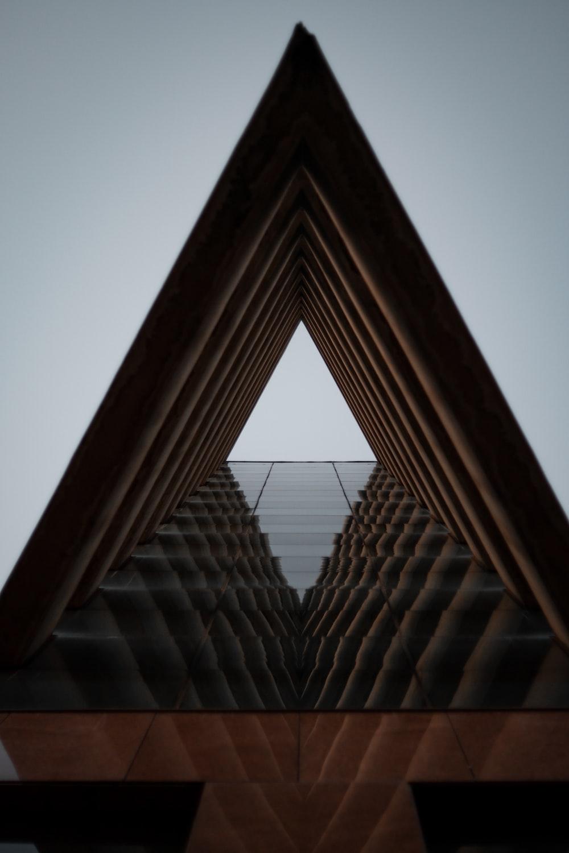 brown triangular roof