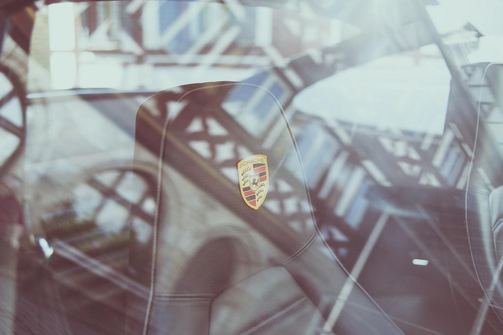 black Porsche car seat