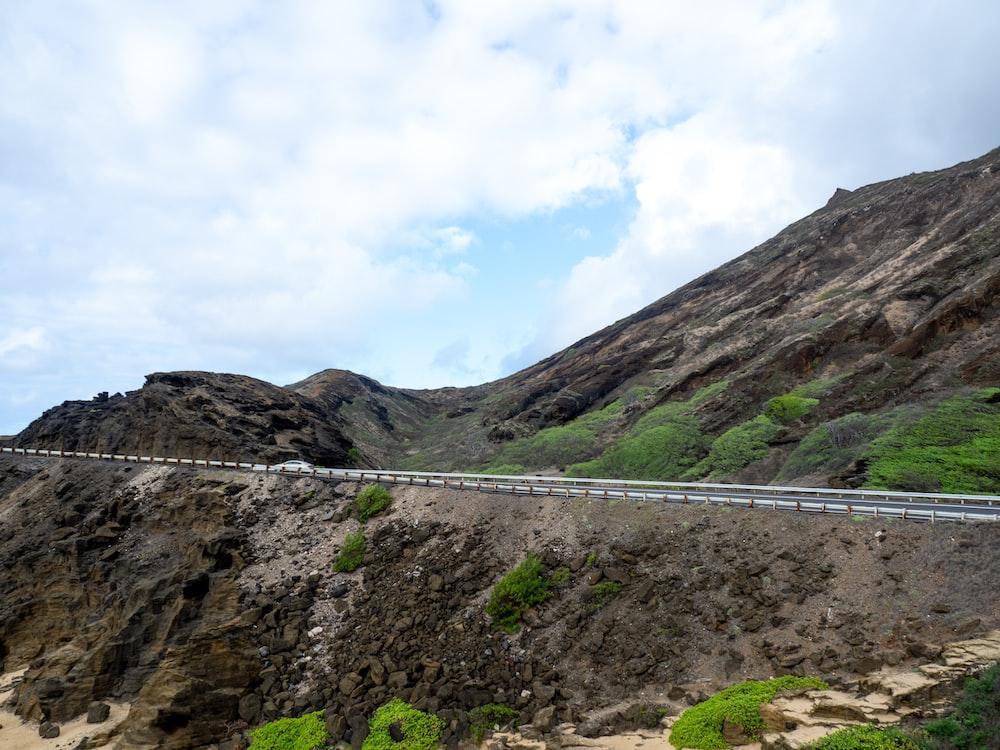 concrete on mountain cliff