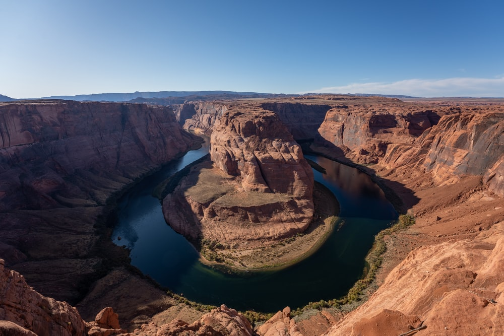 aerial photography brown canyon during daytime