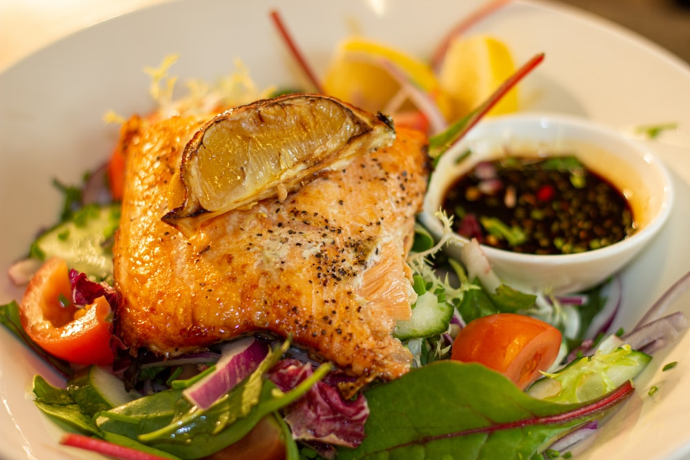 fish dish on plate