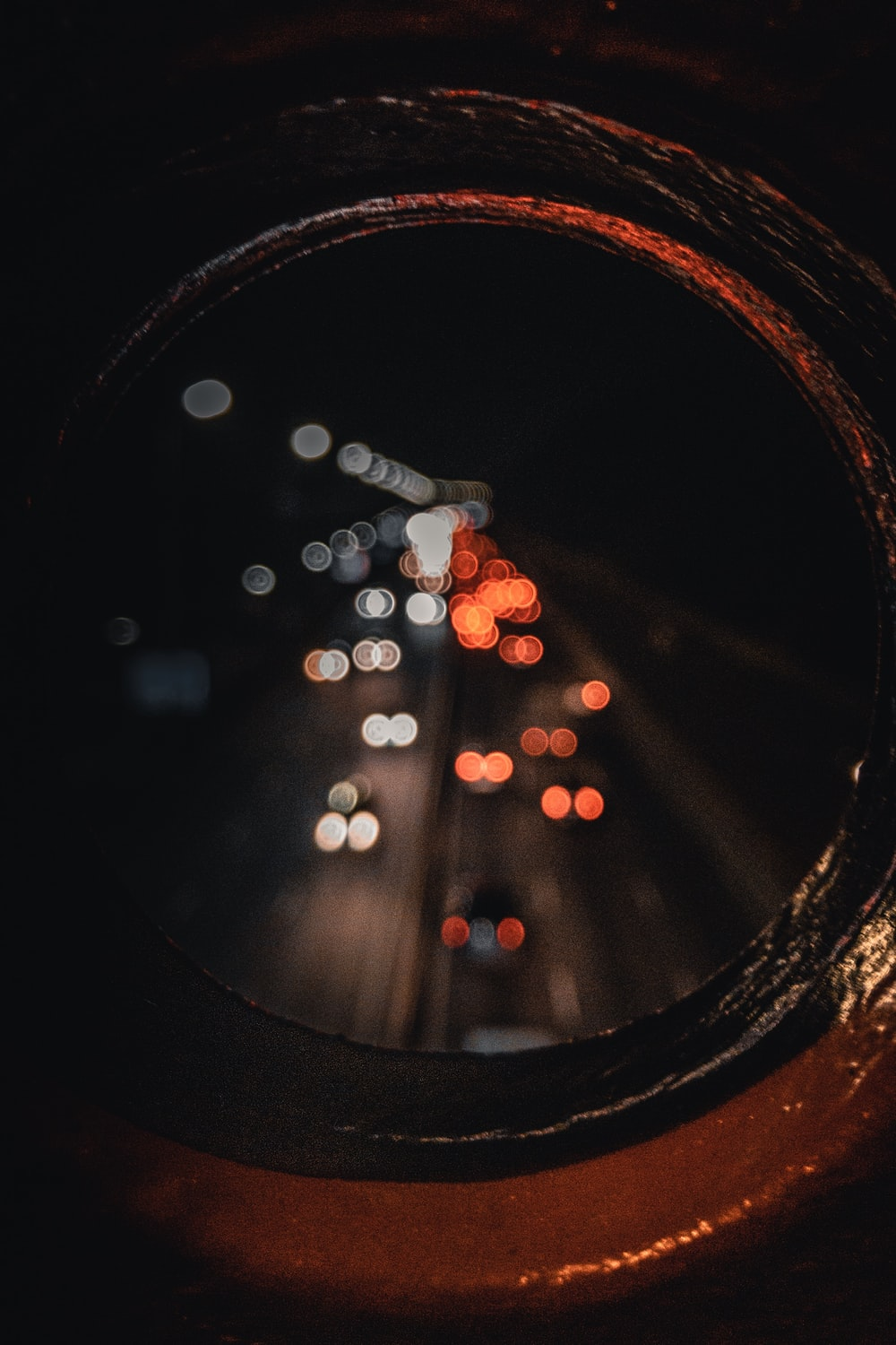 view photo of cars in hole