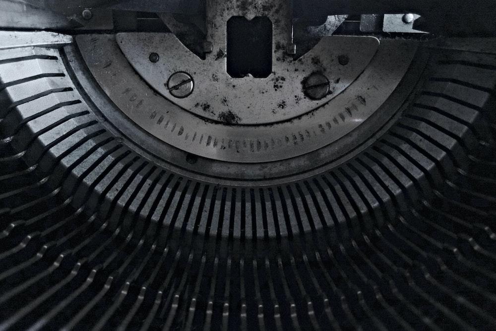 gray electronic machine