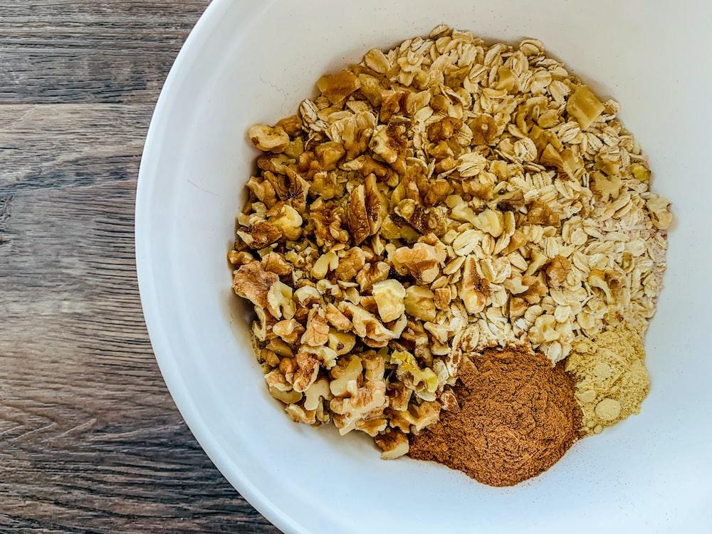 brown nuts on bowl