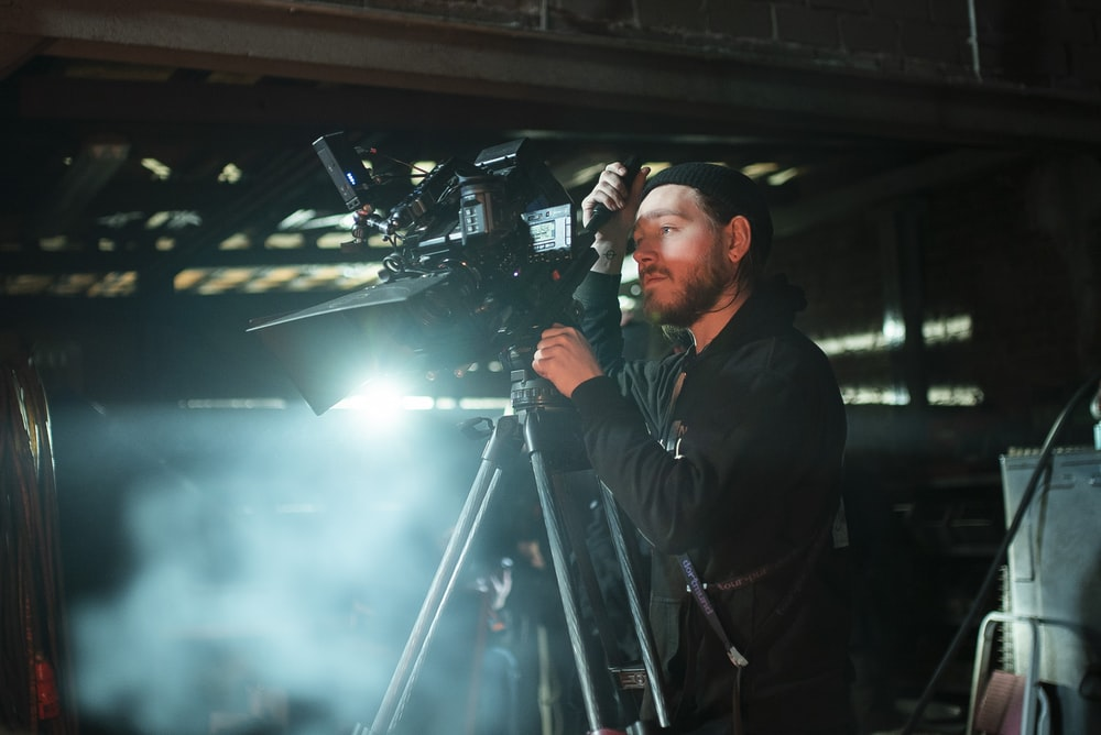 man doing camera shoot