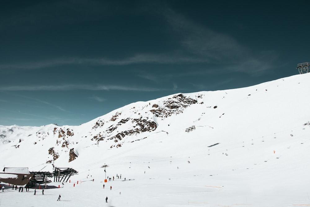 snowboards on snow mountain