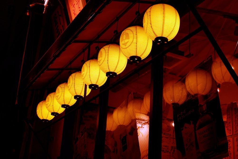 turned on lanterns