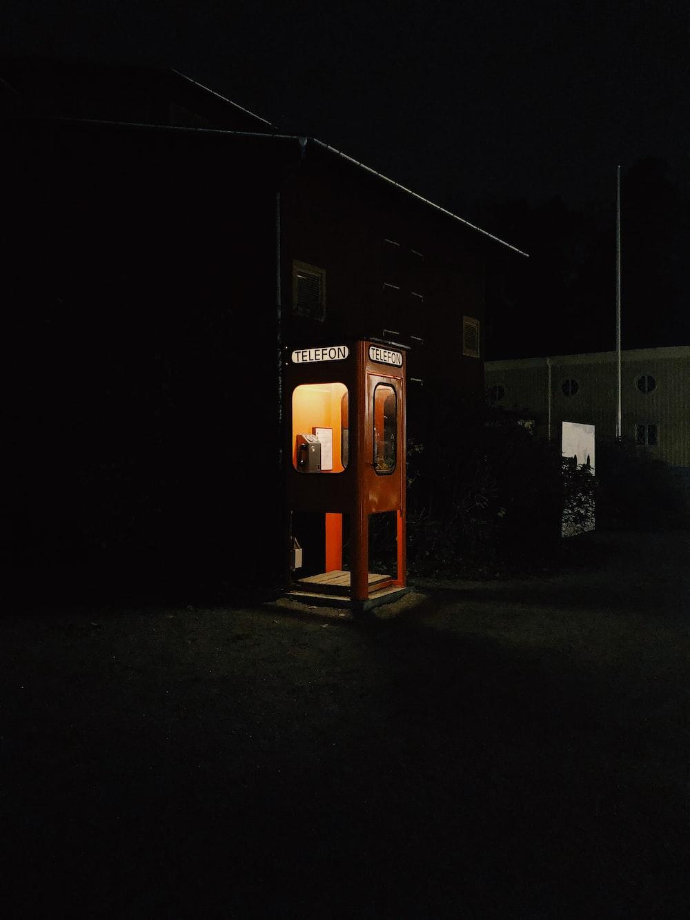 payphone at night