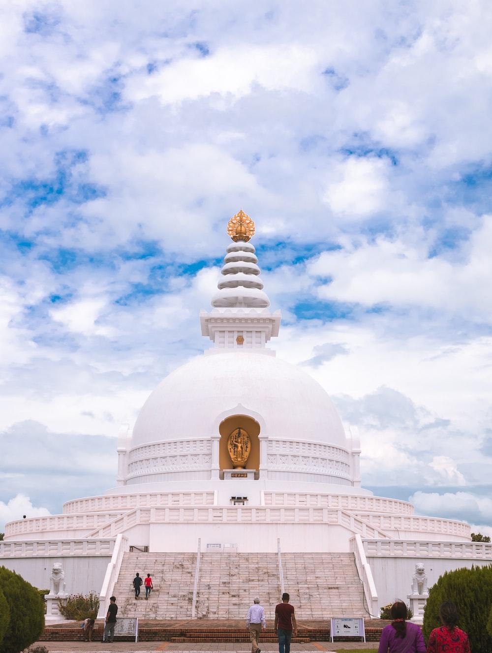 white dome building