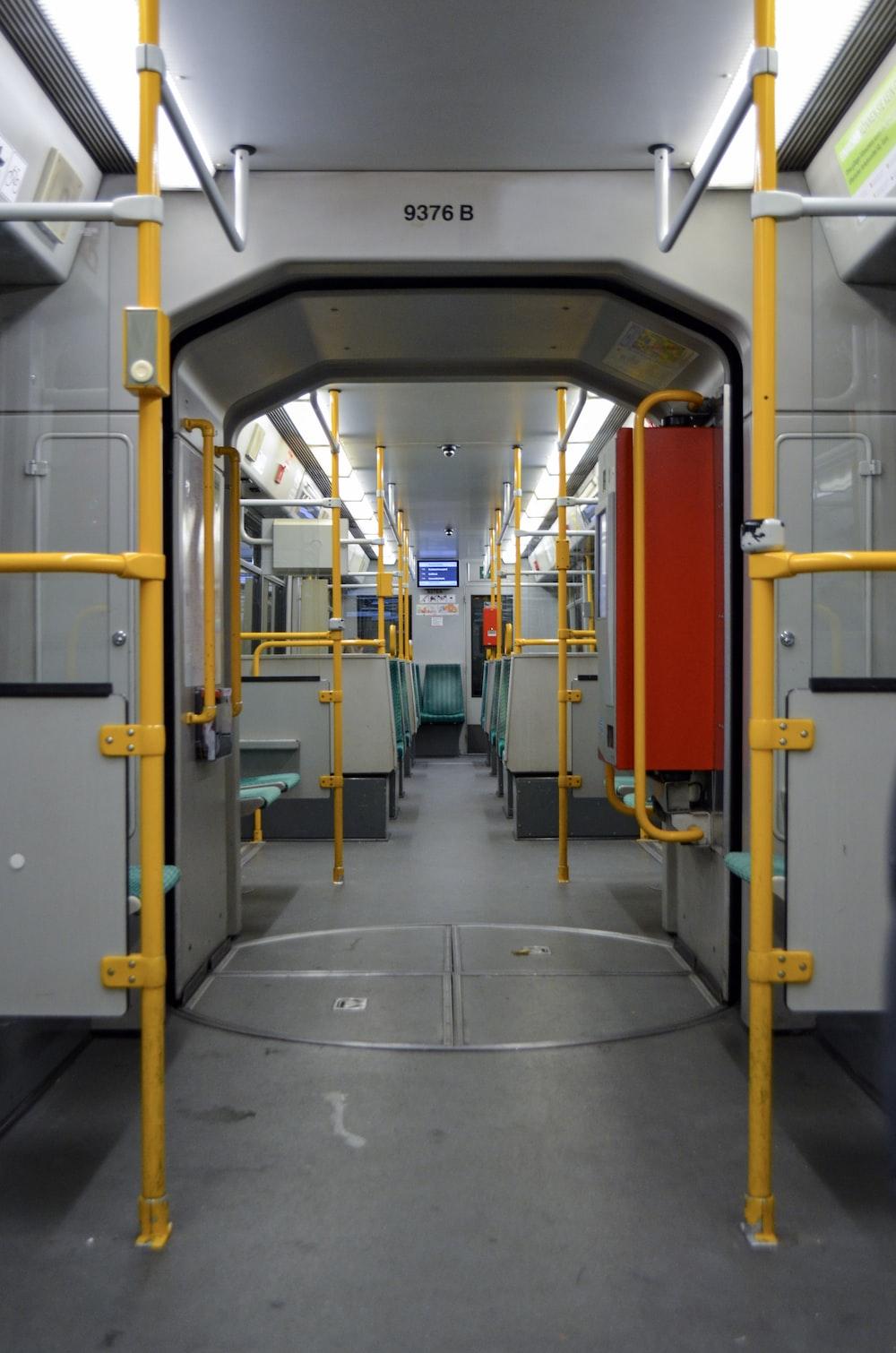 grey train interior