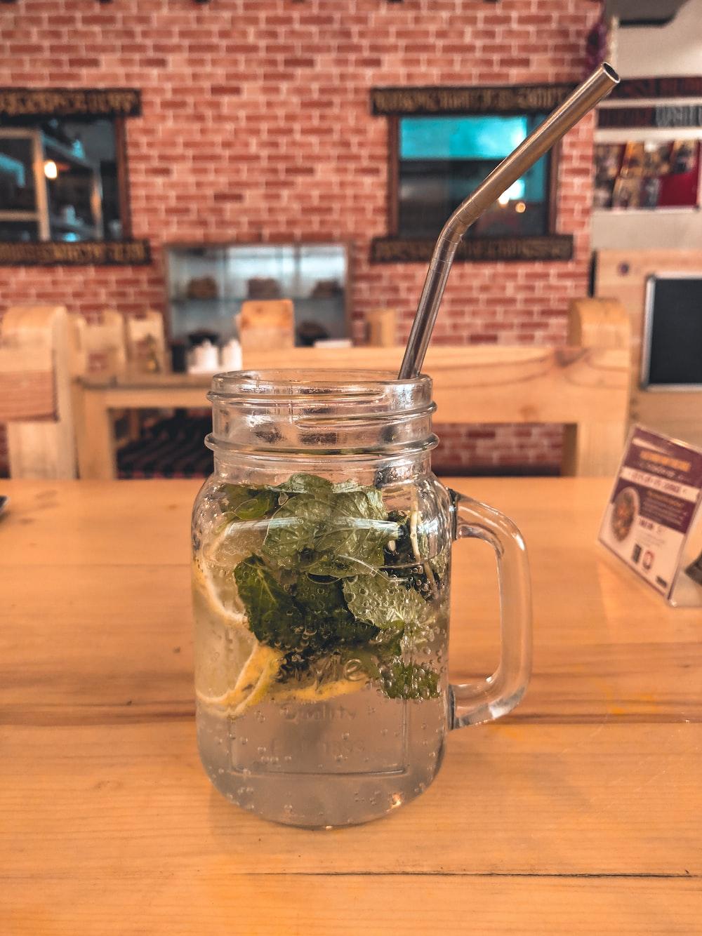 cler glass jar