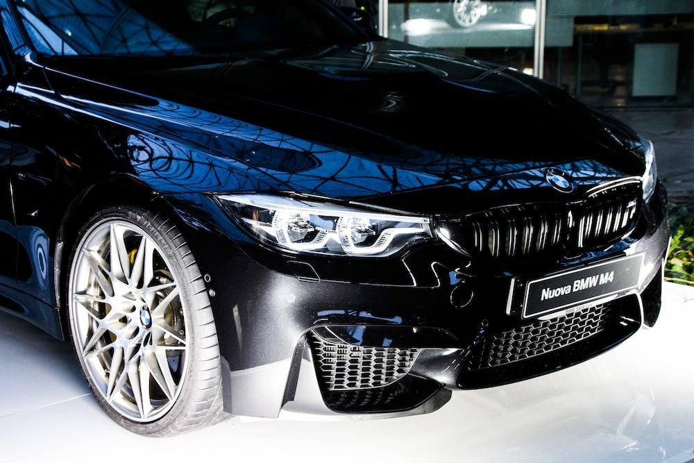 black BMW M3 coipe