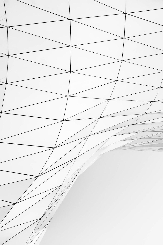 black and white geometrical shape vector art