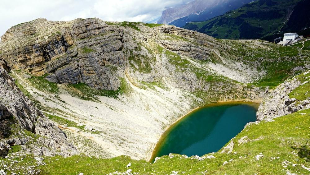 green mountain slope scenery