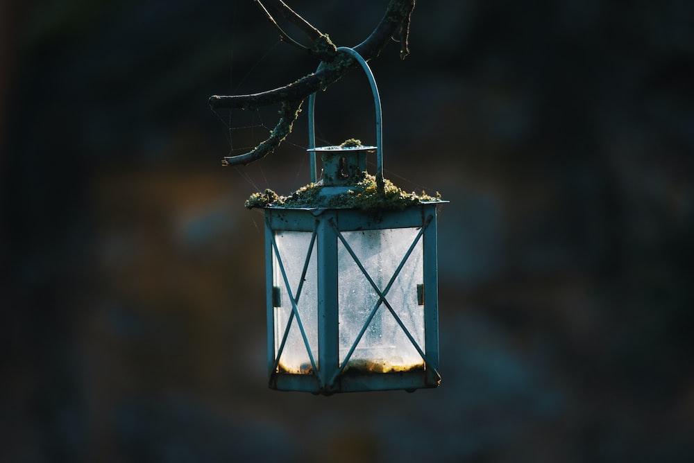 empty candle lantern