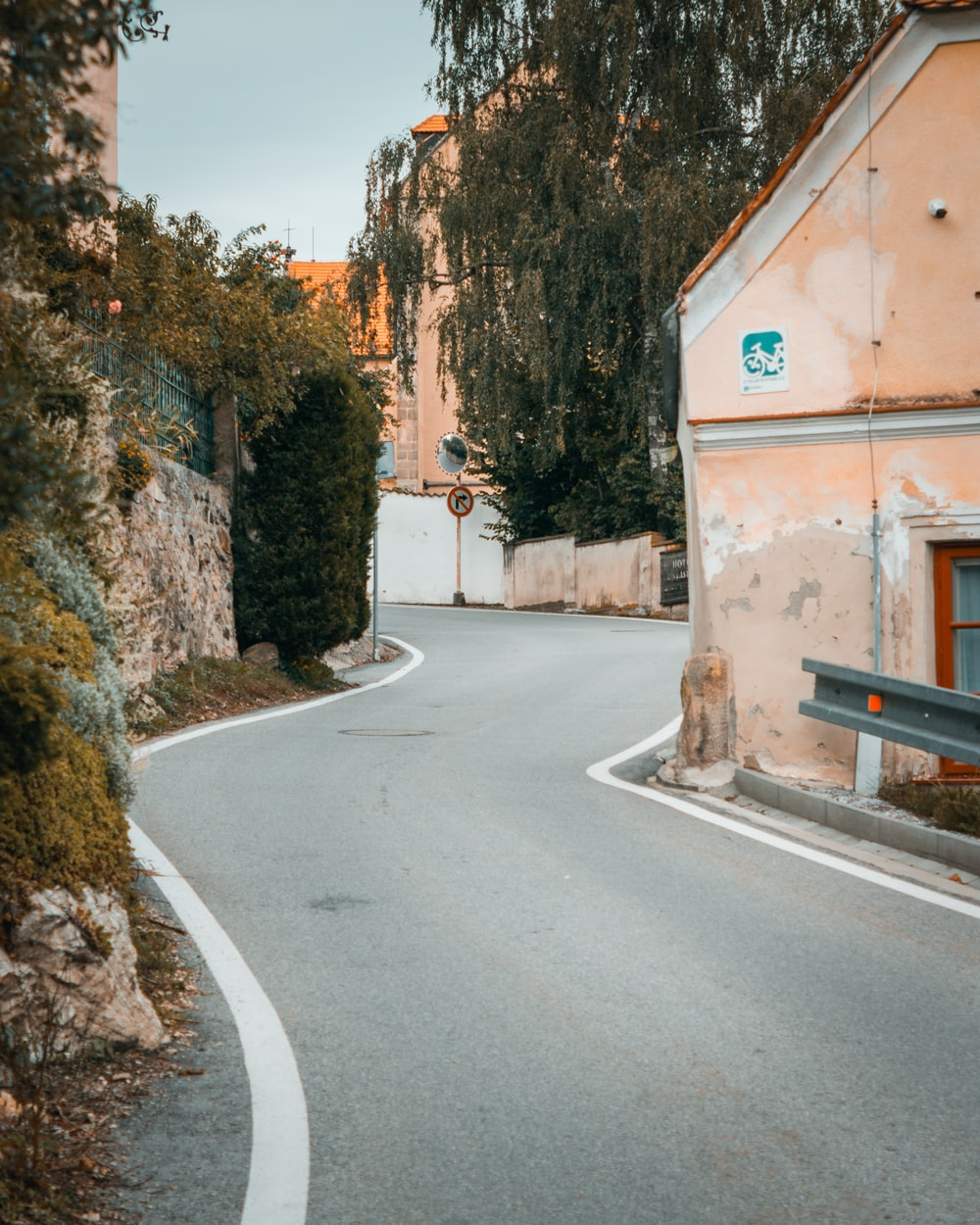clear winding road during daytime